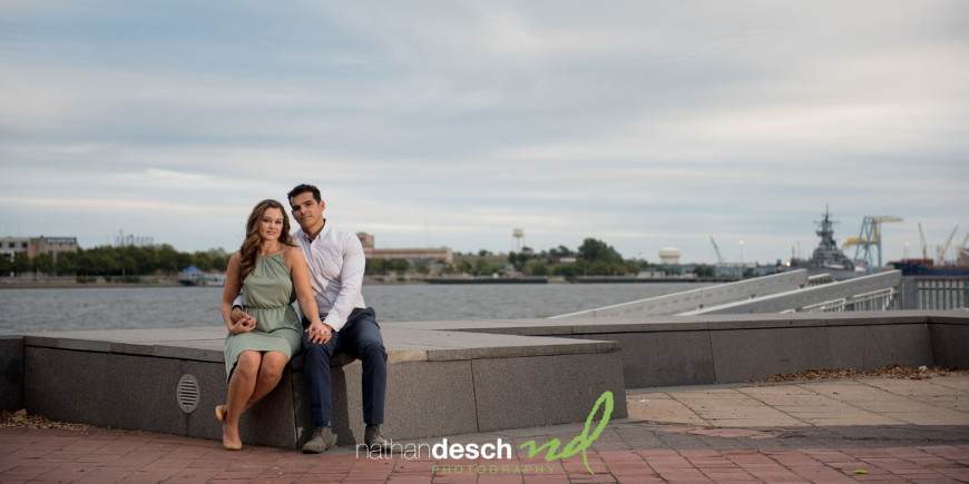 Penns Landing Engagement Pictures